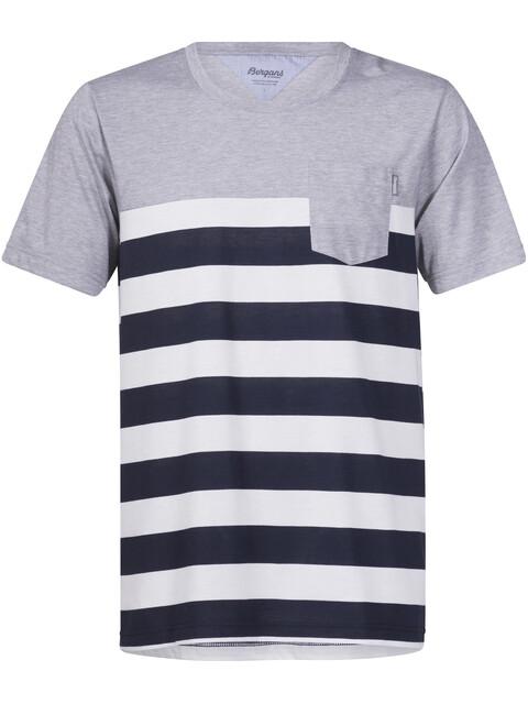 Bergans Lyngør - T-shirt manches courtes Homme - bleu/blanc
